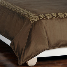 ANTHEMION BROWN/GOLD DUVET COVER and Comforter