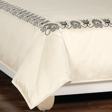 ANTHEMION IVORY/BLACK DUVET COVER and Comforter