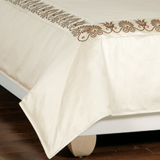 ANTHEMION IVORY/BROWN DUVET COVER and Comforter