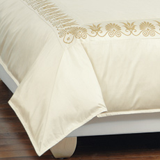 ANTHEMION IVORY/GOLD DUVET COVER and Comforter