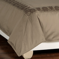 ANTHEMION TAUPE/BROWN DUVET COVER