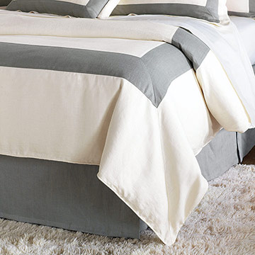BREEZE PEARL/SLATE DUVET COVER
