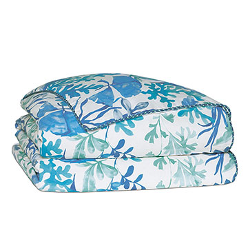 Olympia Azure Duvet Cover and Comforter