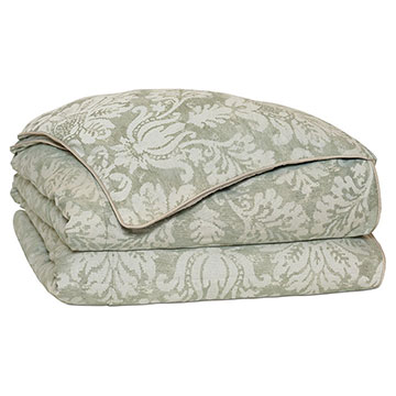 Lourde Celadon Duvet Cover and Comforter