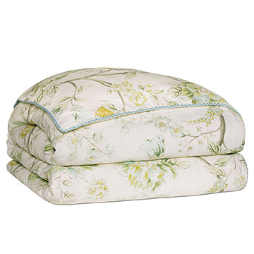 Magnolia Mint Duvet Cover and Comforter