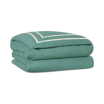 Resort Aqua Fret Duvet Cover and Comforter