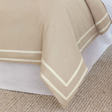Resort Bisque Fret Duvet Cover and Comforter