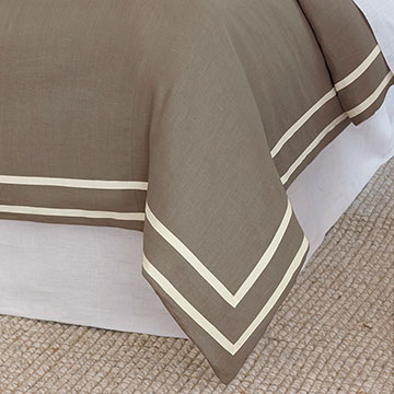 Resort Clay Fret Duvet Cover and Comforter
