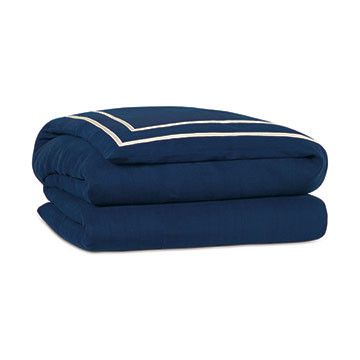 Resort Indigo Fret Duvet Cover and Comforter