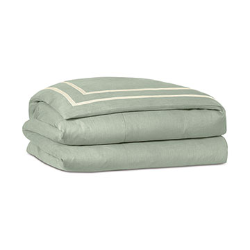 Resort Mint Fret Duvet Cover and Comforter