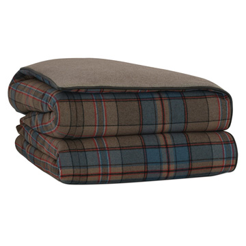 RUDY WOOL PLAID DUVET COVER and Comforter
