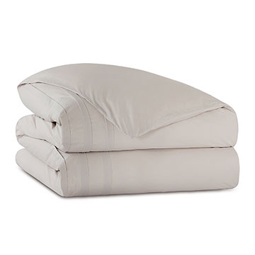 Vail Percale Duvet Cover in Bisque and Comforter