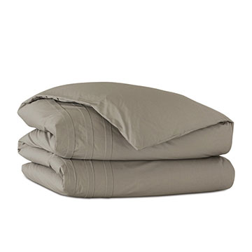 Vail Percale Duvet Cover in Fawn and Comforter