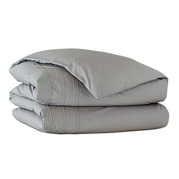 Vail Percale Duvet Cover in Heather and Comforter