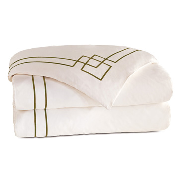 GRAFICO IVORY/OLIVA DUVET COVER and Comforter