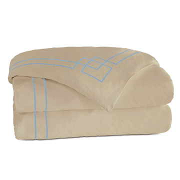 GRAFICO SABLE/AZURE DUVET COVER and Comforter