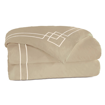 GRAFICO SABLE/ECRU DUVET COVER and Comforter
