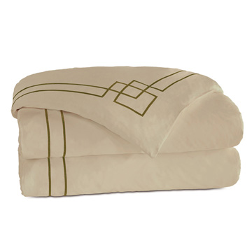 GRAFICO SABLE/OLIVE DUVET COVER and Comforter