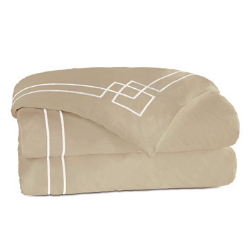 GRAFICO SABLE/WHITE DUVET COVER and Comforter