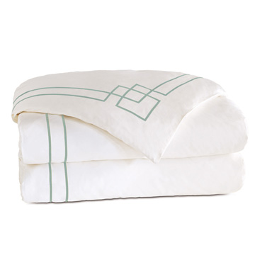 GRAFICO WHITE/ALOE DUVET COVER and Comforter