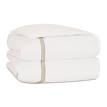 TESSA IVORY/BISQUE DUVET COVER and Comforter