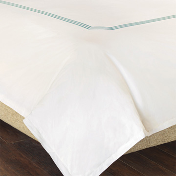 TESSA IVORY/LAKE DUVET COVER and Comforter
