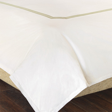TESSA IVORY/PEAR DUVET COVER and Comforter