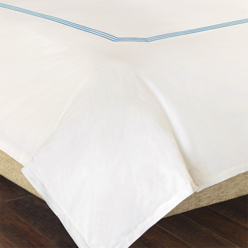 TESSA IVORY/SKY DUVET COVER and Comforter