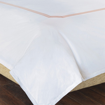 TESSA WHITE/BLUSH DUVET COVER and Comforter