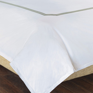 TESSA WHITE/OLIVA DUVET COVER and Comforter