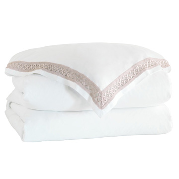 JULIET WHITE/FAWN DUVET COVER and Comforter