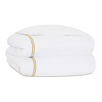 ENZO WHITE/ANTIQUE DUVET COVER and Comforter