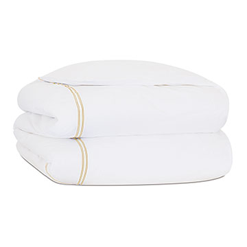 ENZO WHITE/BISQUE DUVET COVER and Comforter