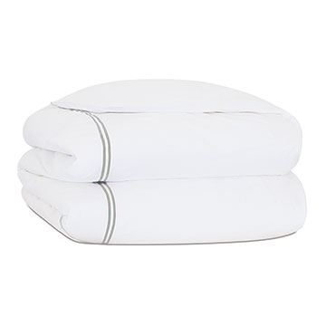 ENZO WHITE/DOVE DUVET COVER and Comforter