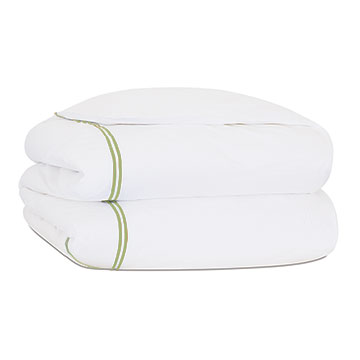 ENZO WHITE/LIME DUVET COVER and Comforter