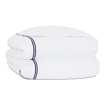 ENZO WHITE/NAVY DUVET COVER and Comforter