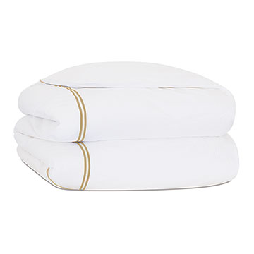 ENZO WHITE/SABLE DUVET COVER and Comforter