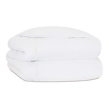 ENZO WHITE/WHITE DUVET COVER and Comforter