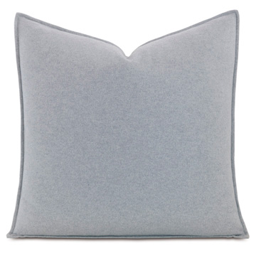 Brera Flannel Euro Sham in Gray