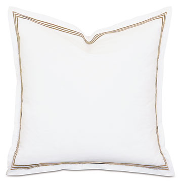 TESSA WHITE/ANTIQUE EURO SHAM