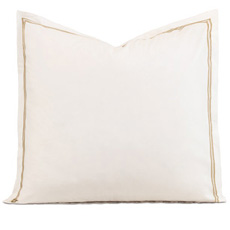 ENZO IVORY/ANTIQUE EURO SHAM