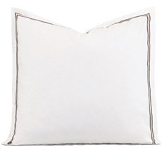 ENZO WHITE/BROWN EURO SHAM