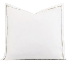 ENZO WHITE/SABLE EURO SHAM