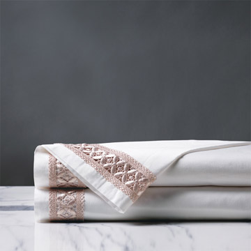 JULIET WHITE/FAWN FLAT SHEET