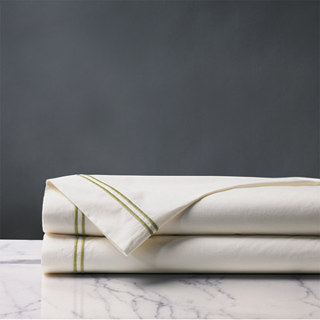 Enzo Ivory/Lime Flat Sheet