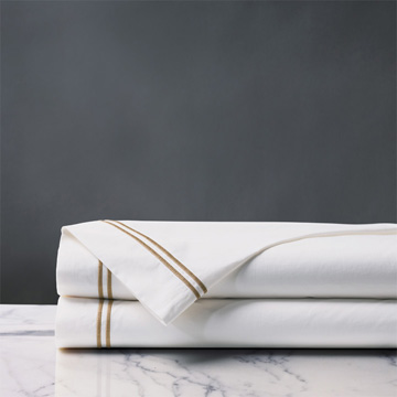 ENZO WHITE/ANTIQUE FLAT SHEET