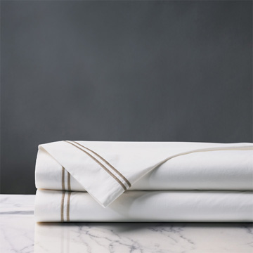 ENZO WHITE/SABLE FLAT SHEET