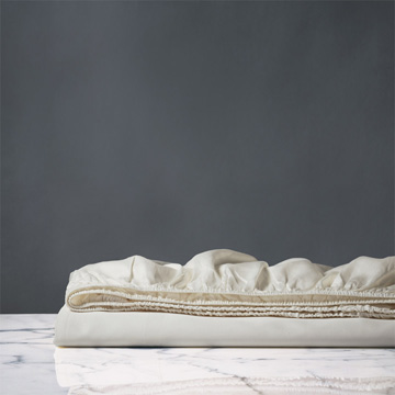 NUVOLA LUXE IVORY FITTED SHEET
