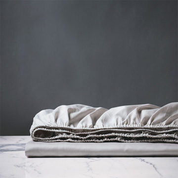 Deluca Silver Fitted Sheet