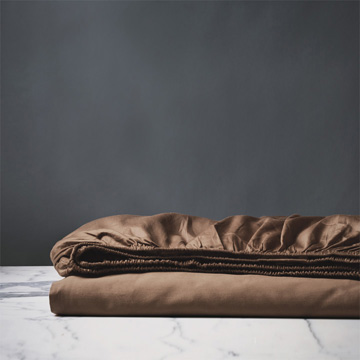 DELUCA TOFFEE FITTED SHEET